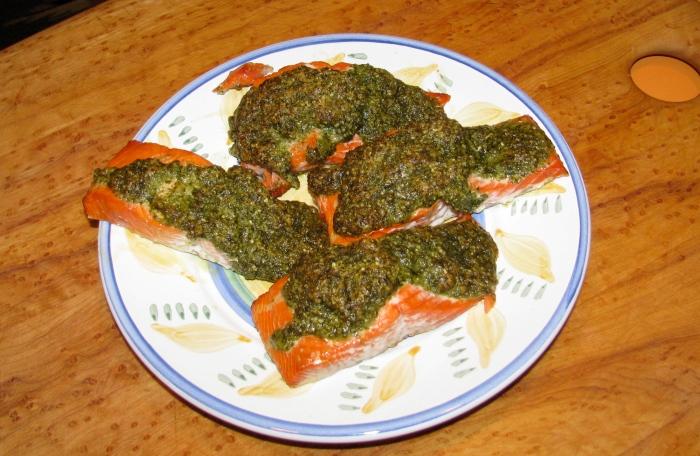 Salmon and Pesto