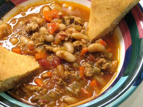 Chili with Skillet Cornbread