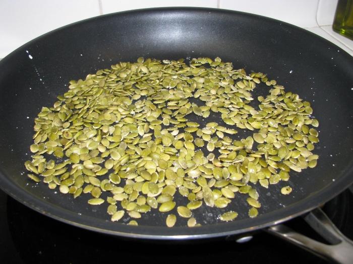 Toasting the Pepitas