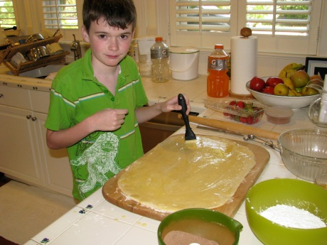 Painting the Dough with Butter