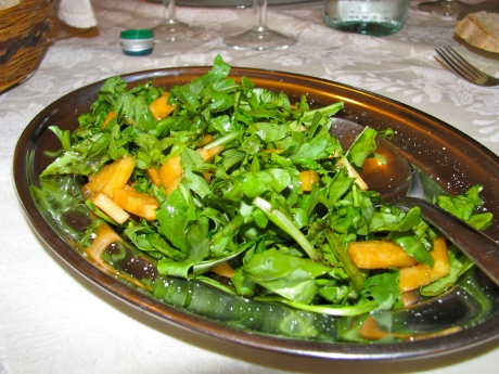 Arugula with Cantelope