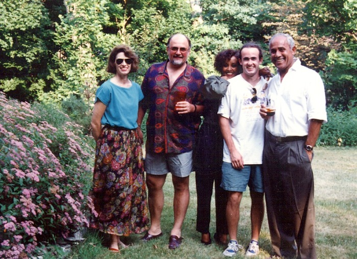 Ainsley on right with my son Chris, the Nafzigers, and my wife Barbara