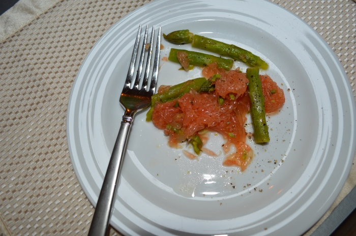 Grapefruit and Asparagus Salad with Cracked Pepper
