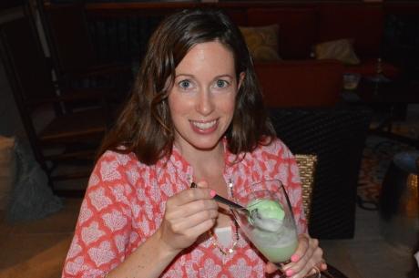 Melissa Enjoying a Champagne Shrub