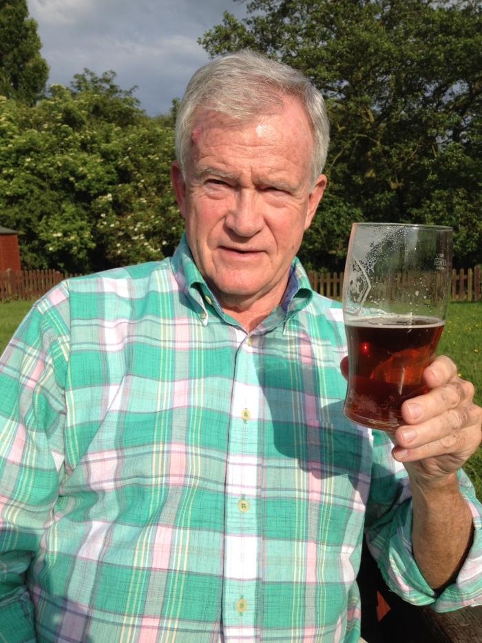 Bill enjoying a pint