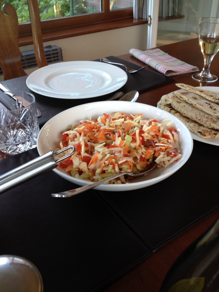 Spicy Cabbage and Vegetable Salad