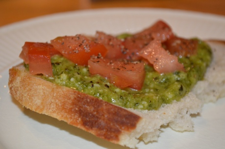 Pesto and Tomato Sandwich