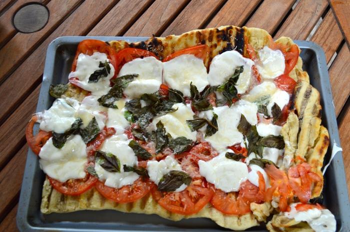 Grilled Margarita Pizza
