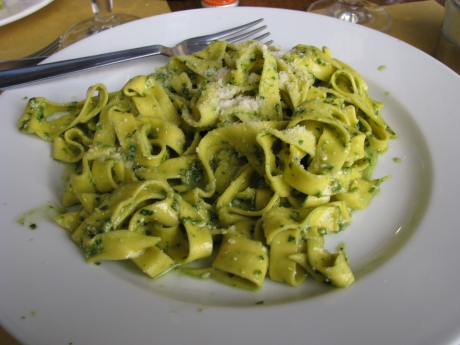 Pesto with Tagliatelle