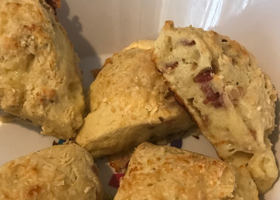 Scones - Savory with Bacon and Cheese